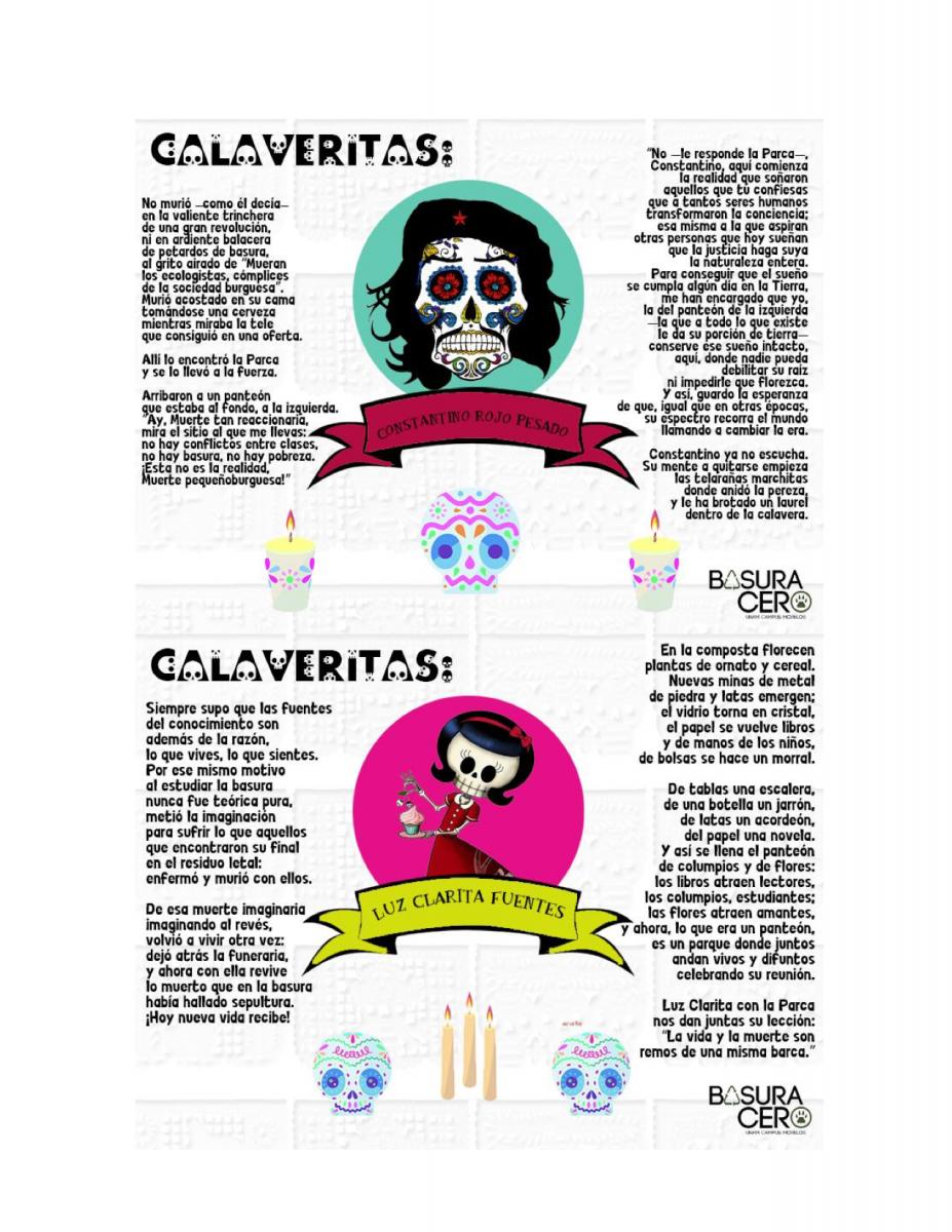 XIX Calaveritas Basura Cero   Basura Cero UNAM Campus Morelos