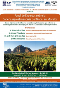 Cartel Panel Agroalimentaria del Nopal 27abril2017