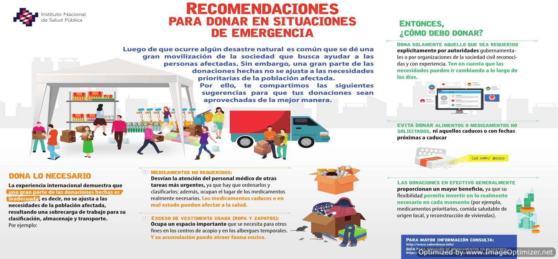 Recomendaciones para donar en situaciones de emergencia