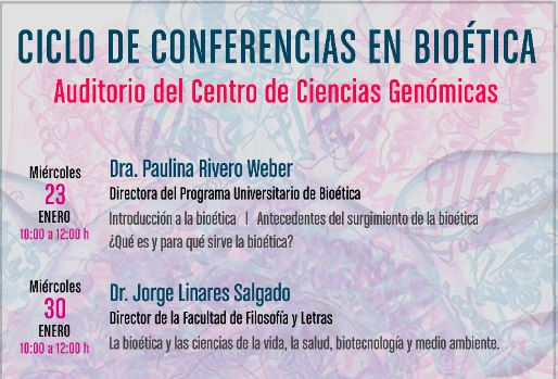 Captura cartel Conferencia Bioética ene-feb2019