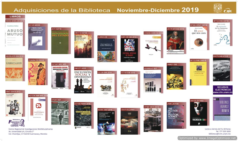 Adquisicion de Libros NOV-DIC