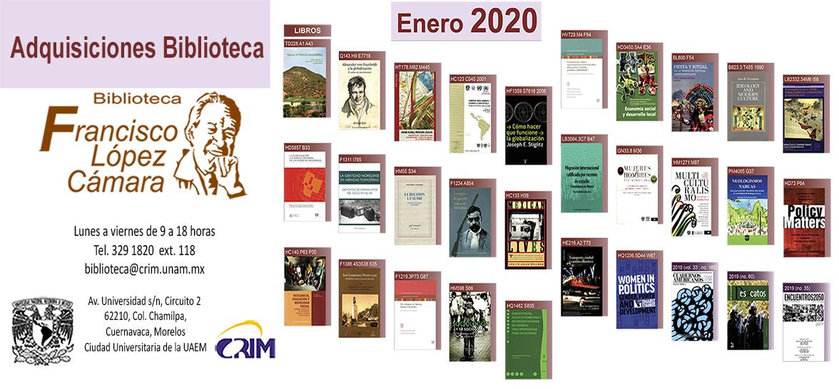 Adquisicion de libros ene20 CRIM