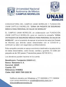 Convocatoria-COVID-19-MORELOS-FUNAM 2